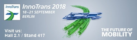 Visit us at Hall 2.1 Stand 417 - Innotrans 2018